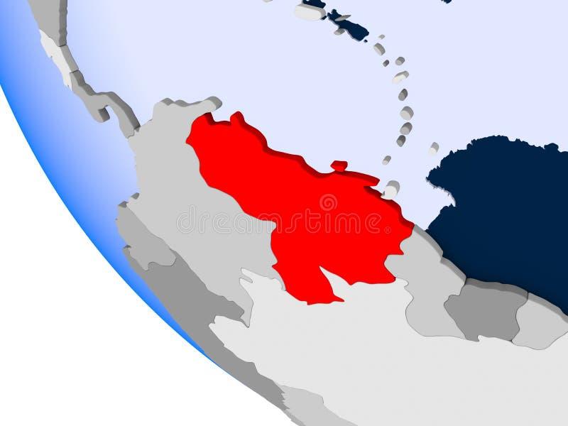Wenezuela na politycznej kuli ziemskiej royalty ilustracja