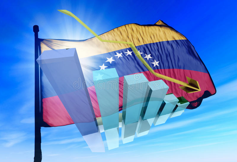 Wenezuela rynki papierów wartościowych zestrzelają luźnego zdjęcia stock