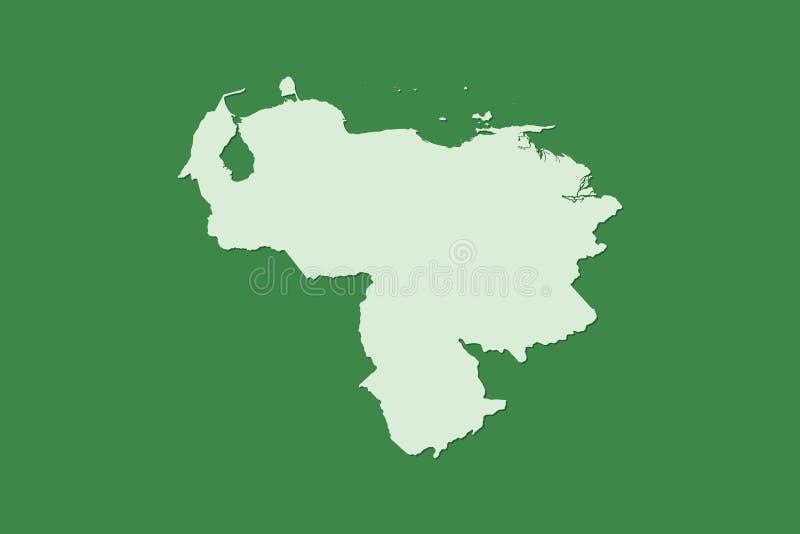 Wenezuela wektorowa mapa z pojedynczym gruntowym terenem używać zielonego kolor na ciemnej tło ilustracji royalty ilustracja