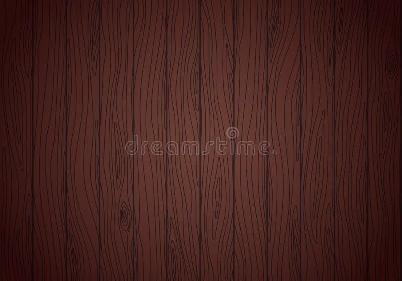 Wenge wood vektortextur grained bakgrund royaltyfri illustrationer