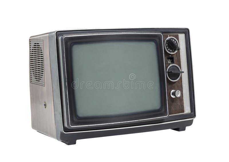 Wenig alter tragbarer Fernseher lizenzfreie stockfotografie