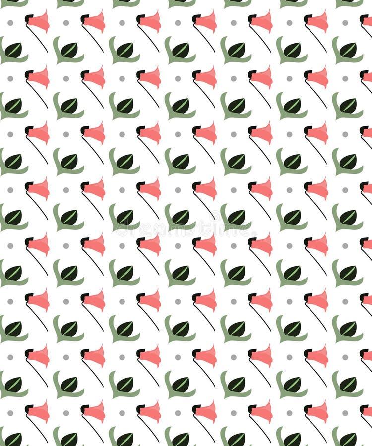Wenig blüht mit weißer Hintergrund-nahtlosem Muster lizenzfreie abbildung