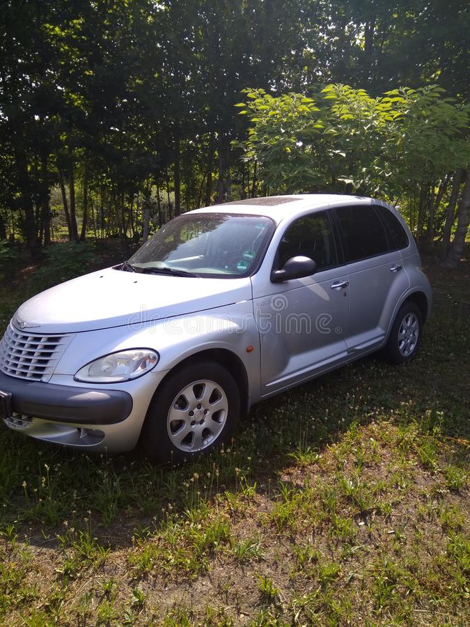 wenig Chrysler-argento Grün luce stockfoto