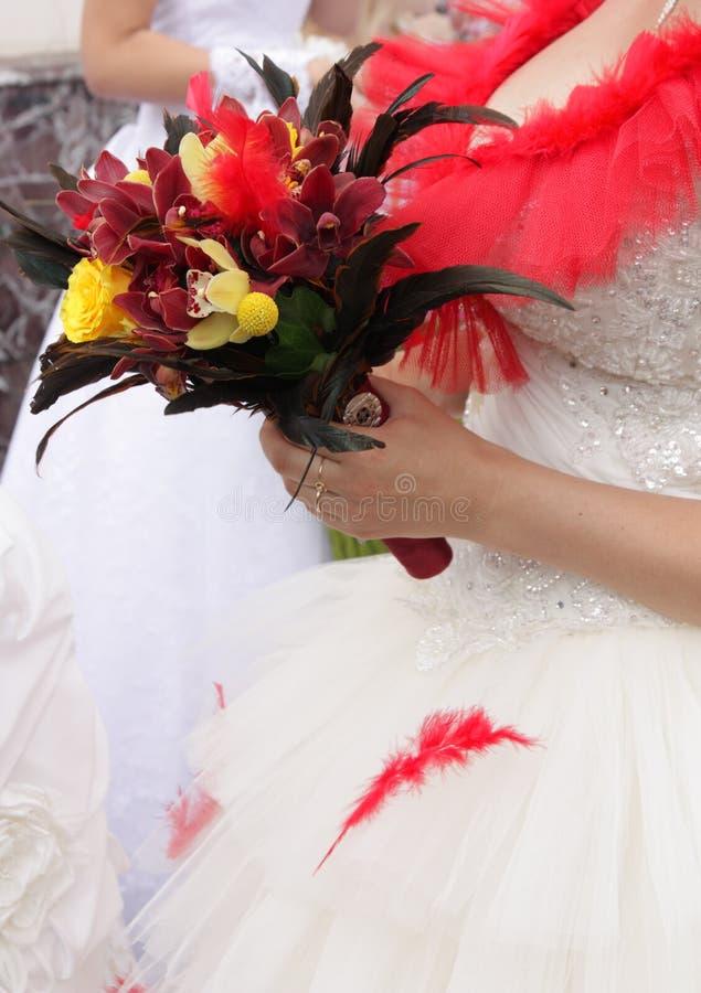 Wenig Hochzeitsblumenstrauß stockfoto