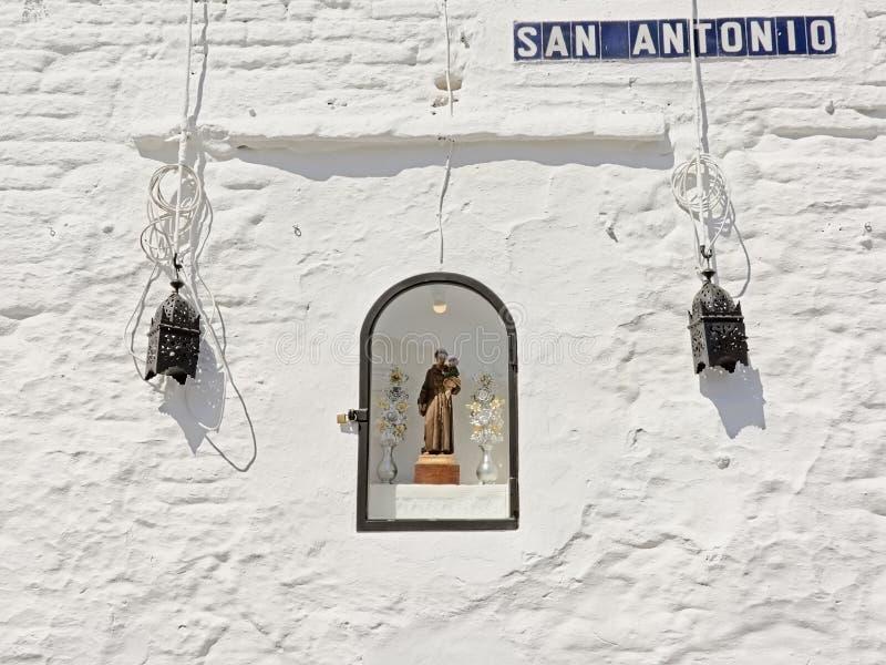 Wenig Kapelle in der Wand für San Antonio lizenzfreie stockbilder