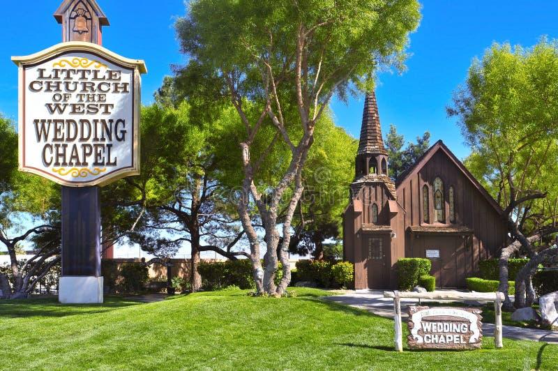 Wenig Kirche des Westens in Las Vegas lizenzfreies stockbild