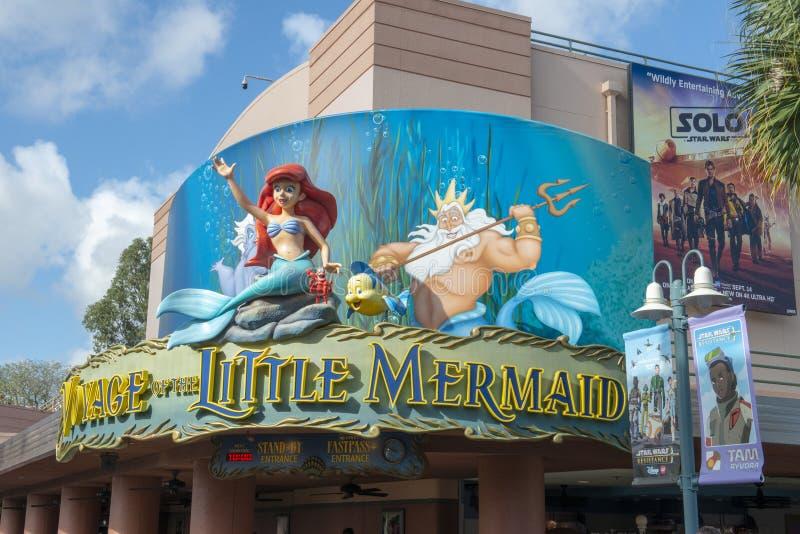 Wenig Meerjungfrau, Disney World, Feiertags-Studios, Reise lizenzfreie stockfotografie