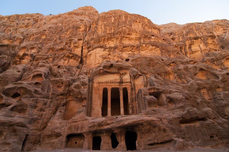 Wenig PETRA, Jordanien stockbild