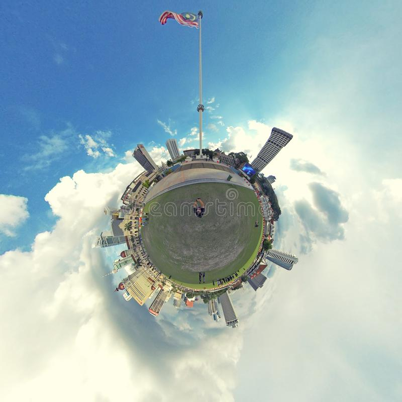 Wenig Planet, Dataran Merdeka, Kuala Lumpur lizenzfreie stockbilder