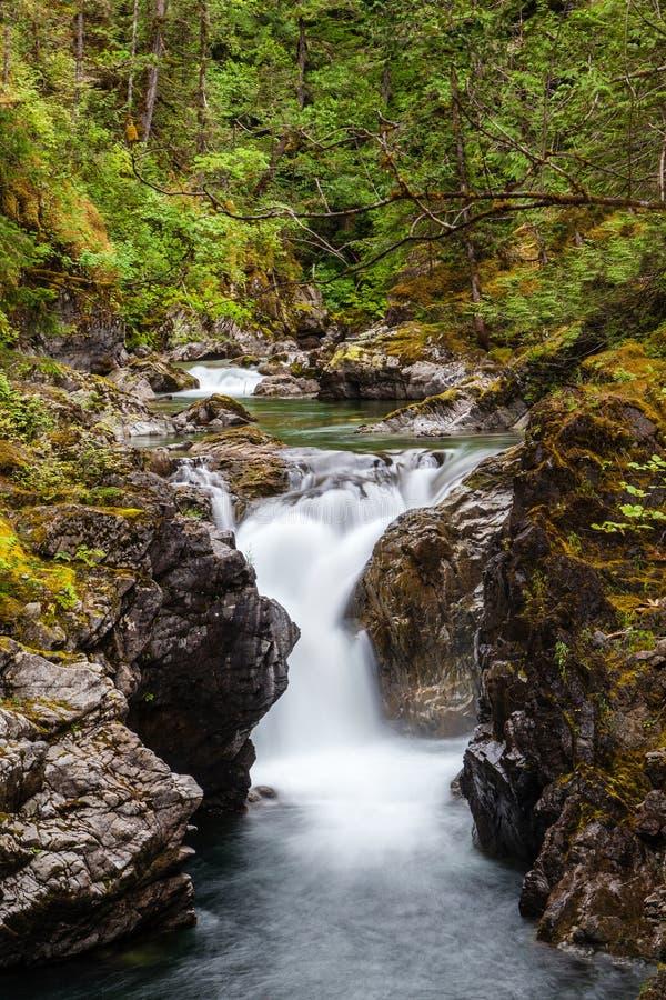 Wenig Qualicum fällt auf Vancouver Island, Kanada stockfoto