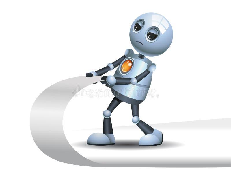 Wenig Roboter, der Ecke der Seite zieht vektor abbildung