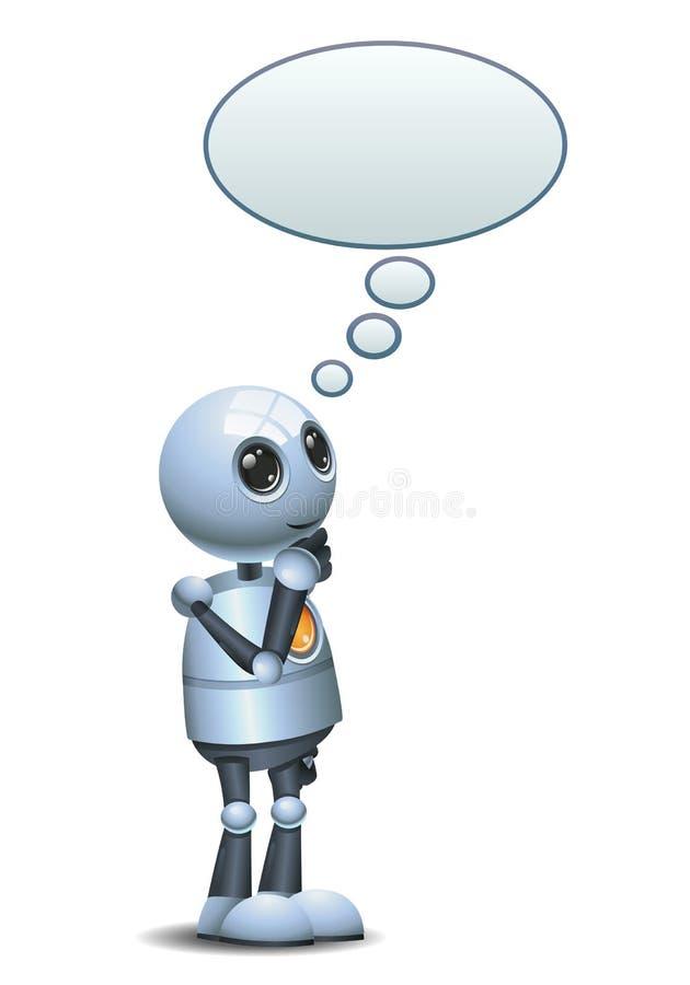 Wenig Roboterdesign-Gedankenblase stock abbildung