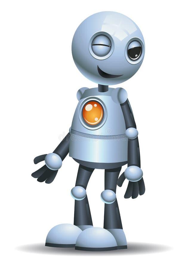 Wenig Robotergefühl in verspottendem Gesicht lizenzfreie abbildung