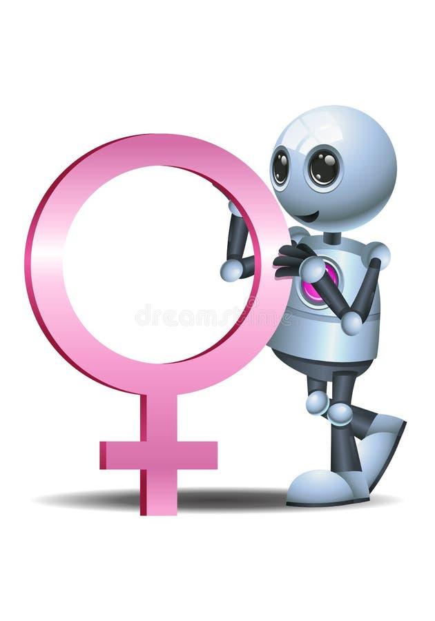 Wenig Robotergriff-Frausymbol lizenzfreie abbildung