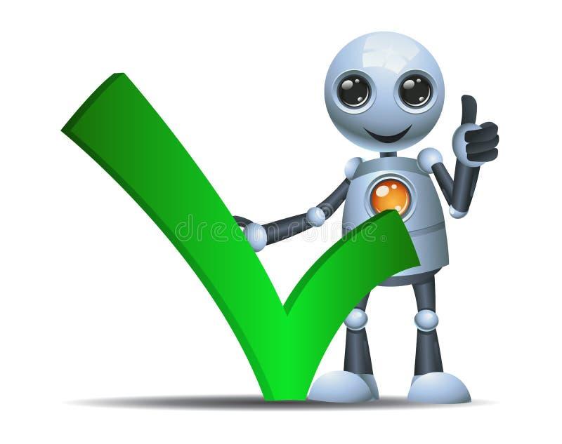 Wenig Robotergriff-Kontrollsymbol lizenzfreie abbildung