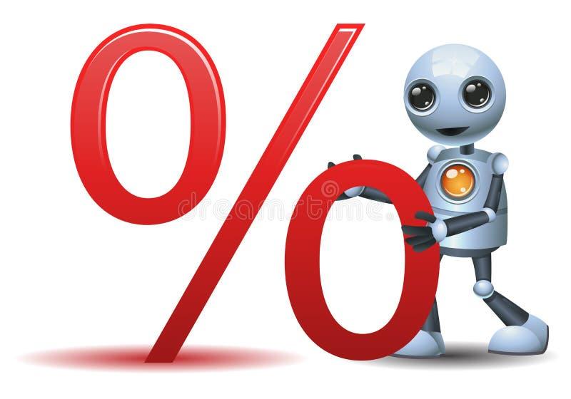 Wenig Robotergriff-Prozentsymbol stock abbildung