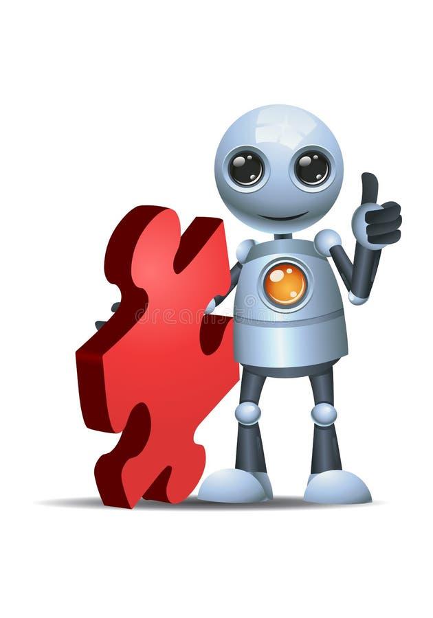 Wenig Robotergriff-Puzzlespielstück lizenzfreie abbildung