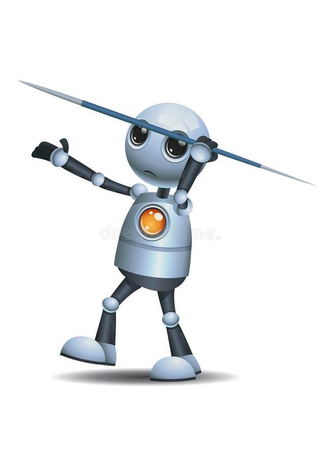 Wenig Robotergriff-Speerstange lizenzfreie abbildung