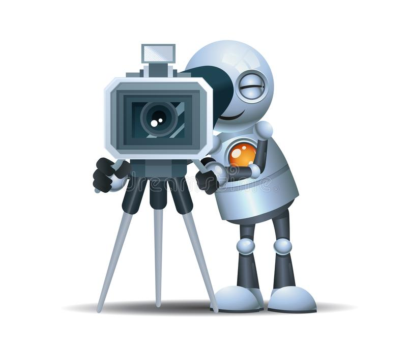 Wenig Robotergrifffilm-Nocken corder, zum des Filmes zu machen lizenzfreie abbildung