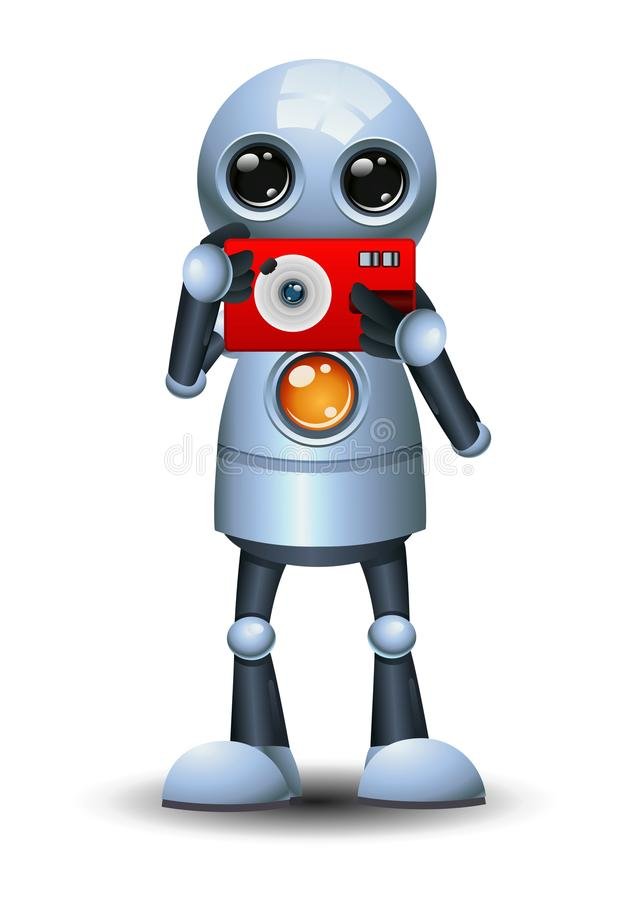 Wenig Robotergriffpocketkamera stock abbildung