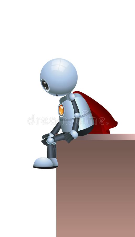 Wenig Robotersuperheld-Warteverbrechen lizenzfreie abbildung