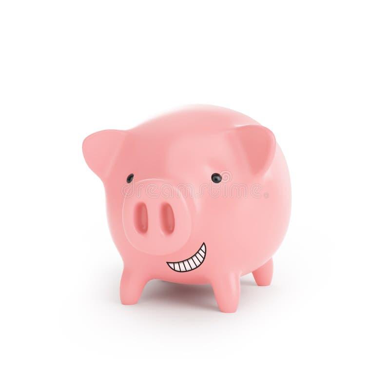 Wenig rosafarbene piggy Querneigung lizenzfreies stockbild