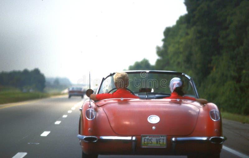 Wenig rotes Chevrolet Corvette 1960 stockfotografie