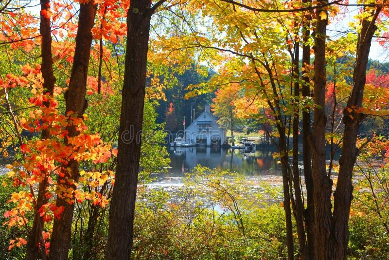 Wenig Squam See in New Hampshire lizenzfreies stockfoto