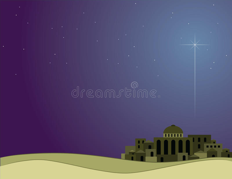 Wenig Stadt von Bethlehem lizenzfreie abbildung