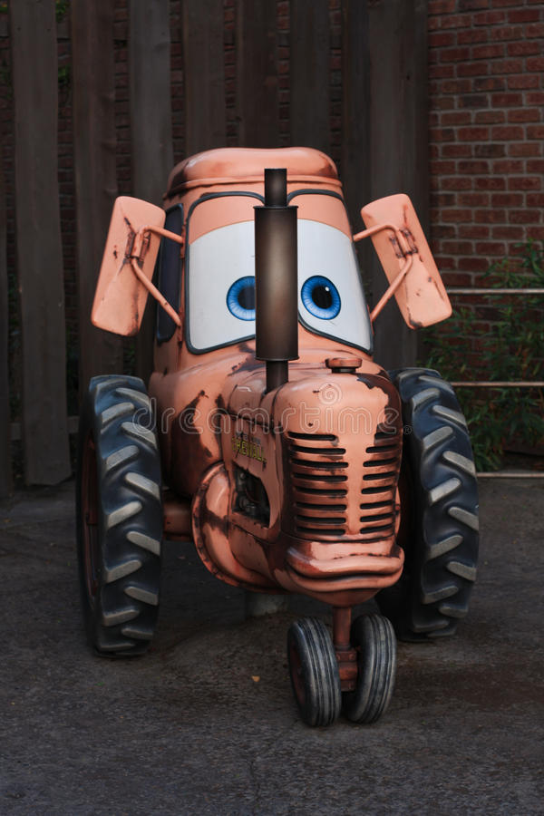 Wenig Traktor an Disneys Kalifornien-Abenteuer stockbild