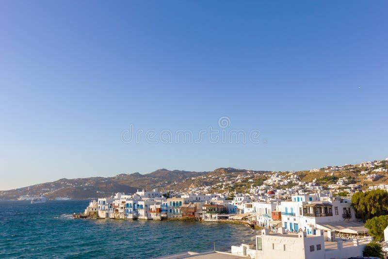 Wenig Venedig in Mykonos, Griechenland lizenzfreie stockfotografie