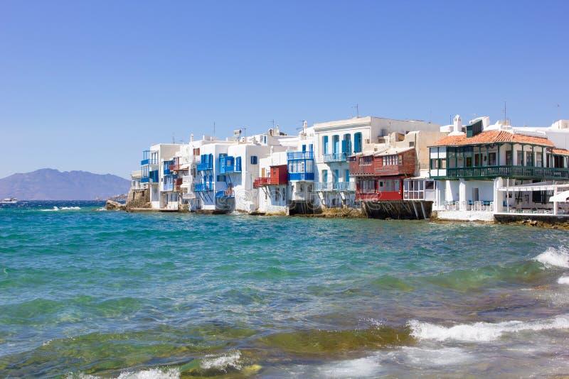 Wenig Venedig in Mykonos, Griechenland stockfoto