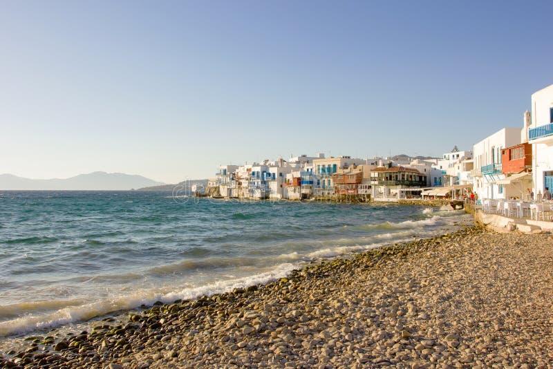 Wenig Venedig in Mykonos, Griechenland stockbilder