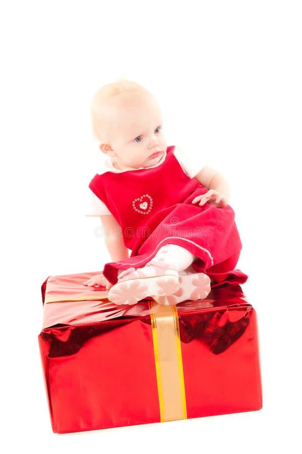 Wenig Weihnachtenc$schätzchenmädchen lizenzfreie stockbilder