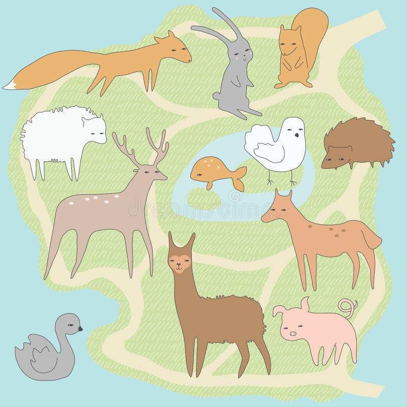 Wenig Zoo stock abbildung