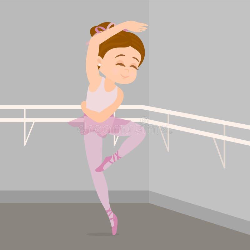 Wenige übende Haltungen des Balletttänzers vektor abbildung