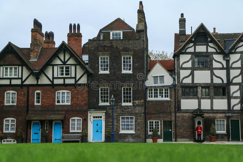 Wenige alte ländliche britische Häuser stockfoto