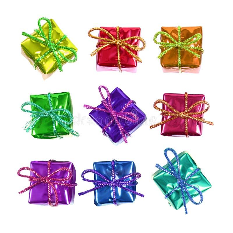 Wenige colorfil Geschenke stockfotografie