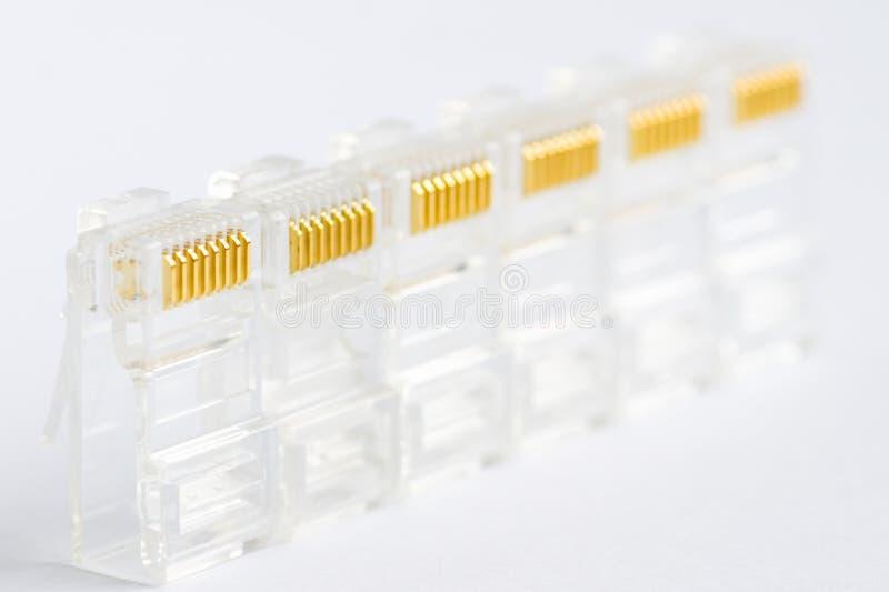 Wenige Netzverbinder lizenzfreie stockfotografie