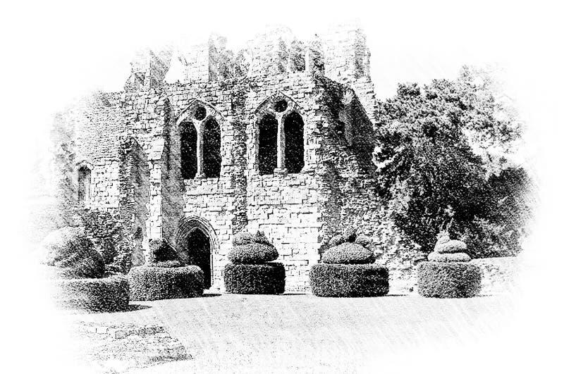 Wenlockpriorij, Shropshire stock afbeeldingen