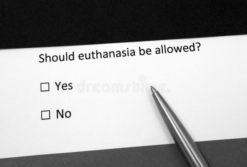 Wenn Euthanasie erlaubt wird stockfoto
