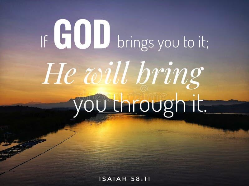 Wenn ich Sie bete, mich Wort Gottes Entwurf für Christentum mit Sonnenaufganghintergrund zu beantworten lizenzfreie stockfotografie