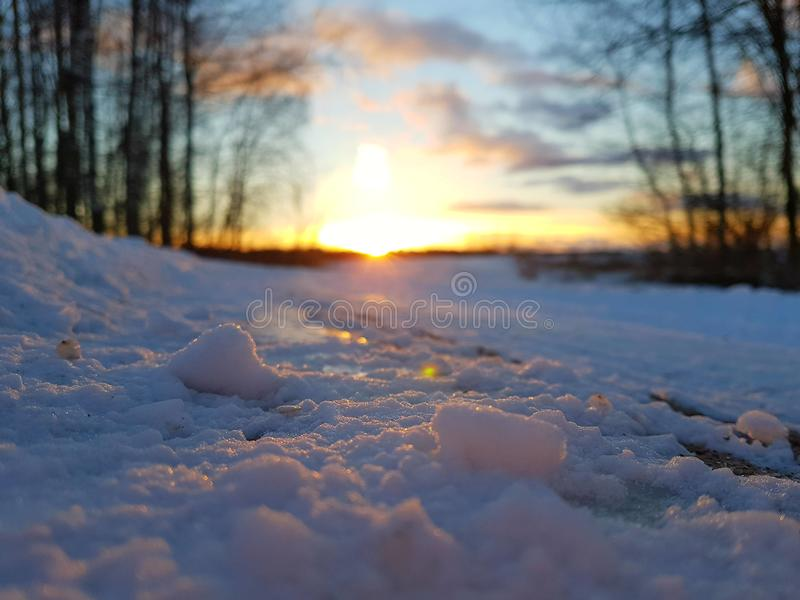 Wenn Schönheit den Schnee schmilzt stockfoto