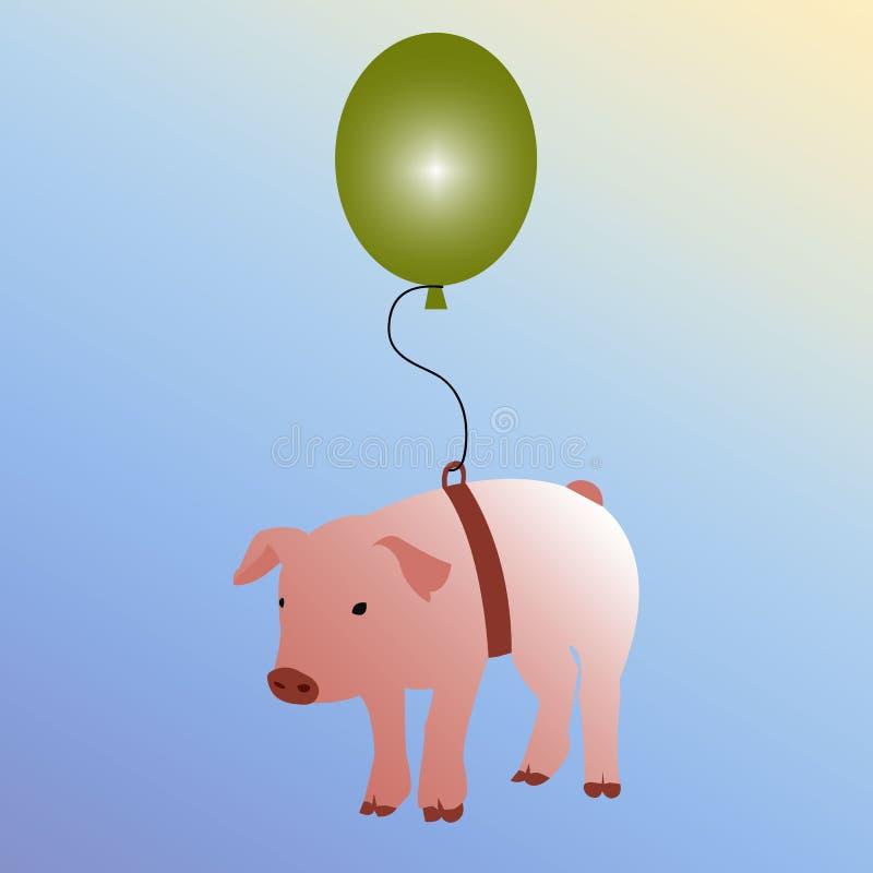 Wenn Schweine Konzept fliegen lizenzfreie abbildung