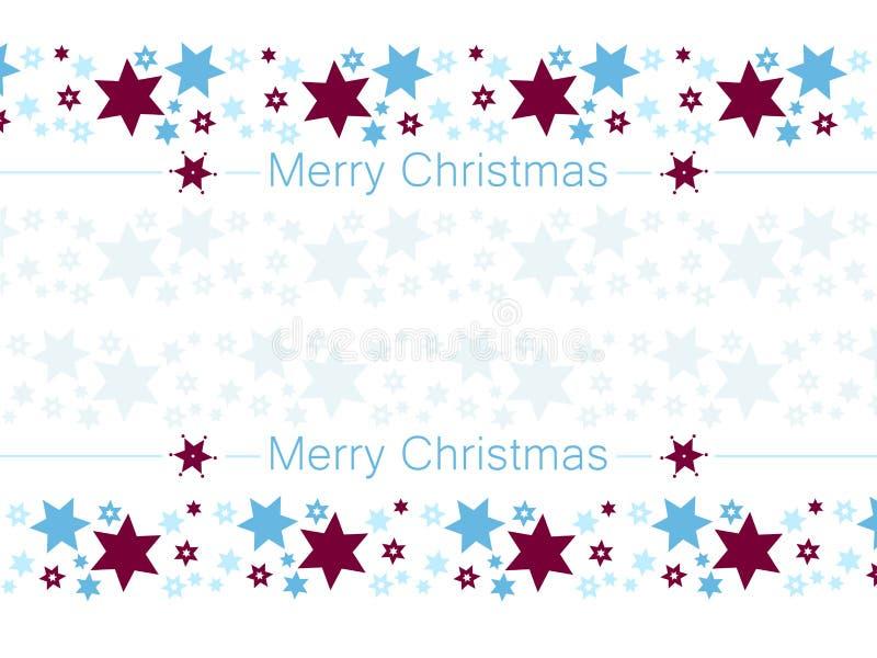 Wensend u vrolijke Kerstmis! Sterachtergrond royalty-vrije illustratie