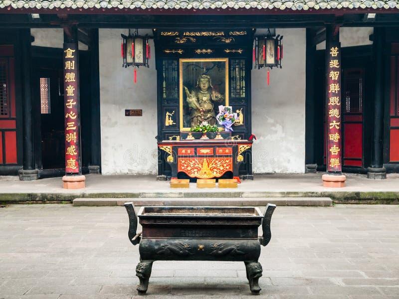 Wenshu buddistisk kloster i Chengdu royaltyfria bilder
