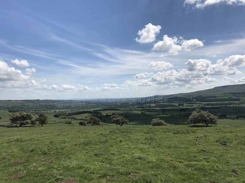 Wensleydale Yorkshire royaltyfria foton