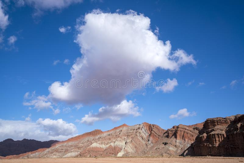 Wensu Grand Canyon in Autumn. Wensu Grand Canyon in Wensu County, Northwest China`s Xinjiang Uygur Autonomous Region, is a living museum of geological evolution royalty free stock images