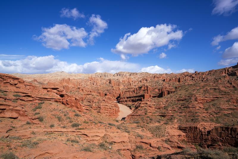 Wensu Grand Canyon in Autumn royalty free stock photography