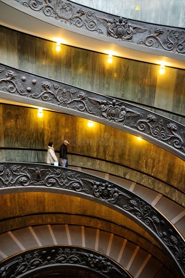 Wenteltrap, het Museum van Vatikaan stock afbeeldingen